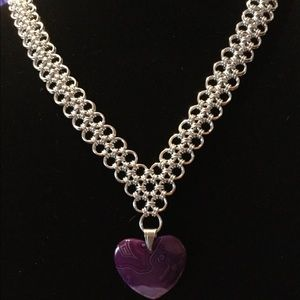 Chainmaille Japanese Lace Necklace
